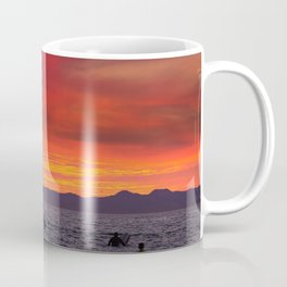 Surfers watching Sunset Coffee Mug