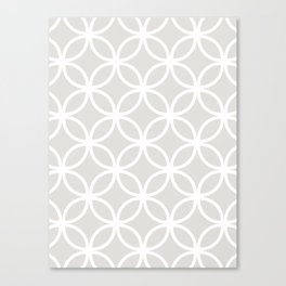 Gray Geometric Circles Canvas Print