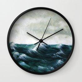 Storm Sea Wall Clock