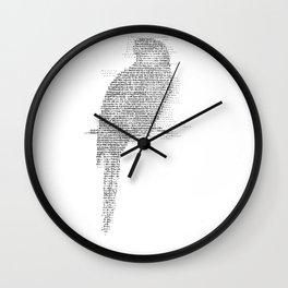 ASCII Rosella Wall Clock