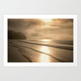 And so it Begins sunrise at Avila Beach California Art Print
