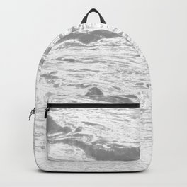 Grey dust marble texture Backpack