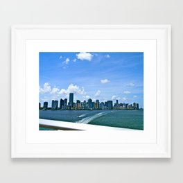 MIA Skyline Framed Art Print