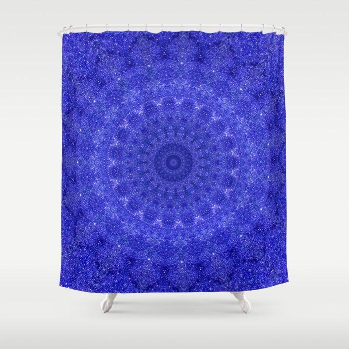 Cosmos Mandala II Cobalt Blue Shower Curtain