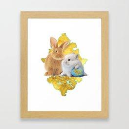 Golden Easter Bunnies (by ACCI) Framed Art Print
