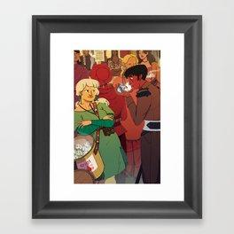 The Dumpling Princess - THE MEETING Framed Art Print