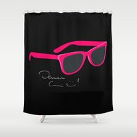 darren criss Shower Curtains featuring Darren Criss Glasses by byebyesally