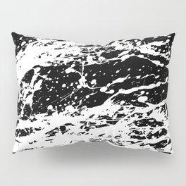 Black and White Paint Splatter Pillow Sham