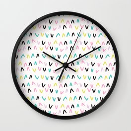 Memphis Geometric Shape Pattern, Seamless Vector Backgrounds, Hand Drawn Scales Illustration for Ret Wall Clock