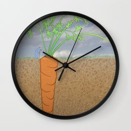 Stalking The Wild Carrot Wall Clock