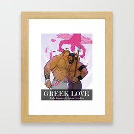 Greek Love Framed Art Print