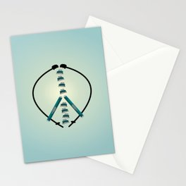 Peace and Skiing Stationery Cards