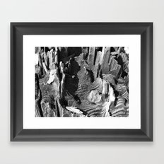 A termites landscape Framed Art Print