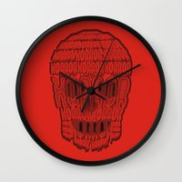 horror Wall Clocks featuring horror by creaziz