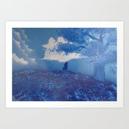 Everything Blue Art Print