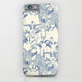 just goats classic blue pearl iPhone Case