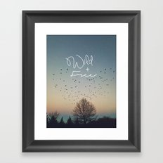 WildandFree Framed Art Print