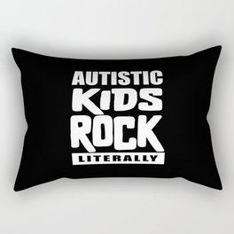 Autism Awareness Autistic Kids Rock Literally Rectangular Pillow