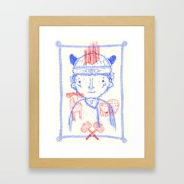 Viking Boy Framed Art Print