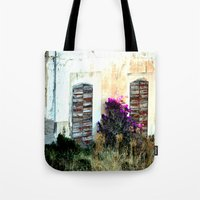 doors Tote Bags featuring doors by  Agostino Lo Coco