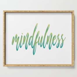 Mindfulness Serving Tray