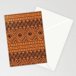 African Mud Cloth // Orange Stationery Cards