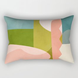 shapes geometry art mid century Rectangular Pillow