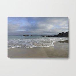 Sea foam on Reflective Sand Metal Print