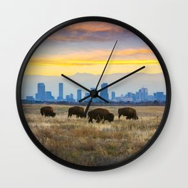 City Buffalo Wall Clock