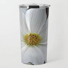 White Cosmos Travel Mug