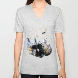 Star Aura Quartz Unisex V-Neck
