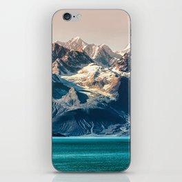 Scenic Alaskan nature landscape wilderness at sunset. Melting glacier caps. iPhone Skin