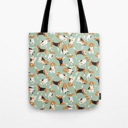 beagle scatter mint Tote Bag