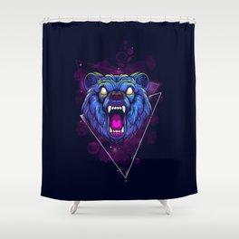 Frenzy Bear Shower Curtain