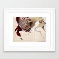 run Framed Art Prints featuring Run by Al Barazi