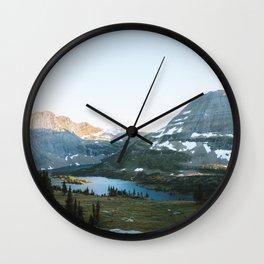 Sunset Over Hidden Lake Wall Clock