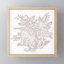 Javanese Batik Framed Mini Art Print