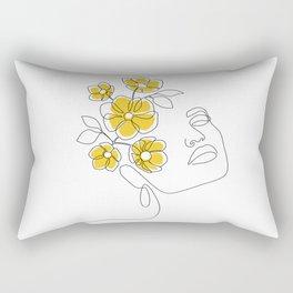 Mustard Bloom Girl Rectangular Pillow