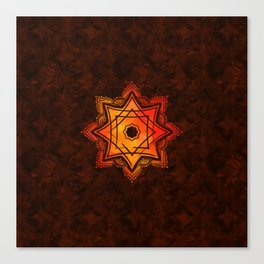 Watercolor Star of Lakshmi - Ashthalakshmi Canvas Print