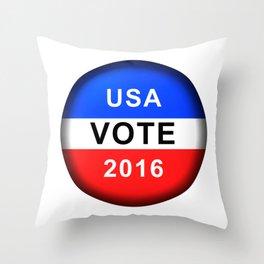 Vote Button 2016 Throw Pillow