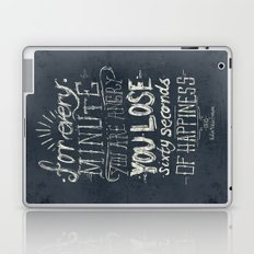 For every minute you are angry you lose sixty seconds of happiness  Laptop & iPad Skin