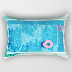 Chillin' - poolside palm springs vacation resort tropical swim swimming retro neon throwback 1980s Rectangular Pillow
