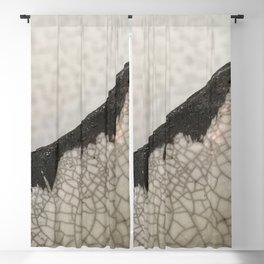 Edge of raku ceramic vase - Perfect imperfection! Blackout Curtain