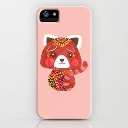 Jessica The Cute Red Panda iPhone Case