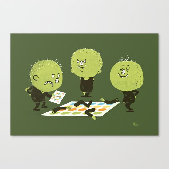 Zombie Twister Canvas Print