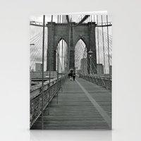 brooklyn bridge Stationery Cards featuring Brooklyn Bridge by Astrid Ewing