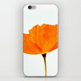 One And Only - Orange Poppy White Background #decor #society6#buyart iPhone Skin