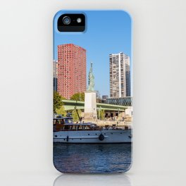 Statue of Liberty and beaugrenelle district - Paris, France iPhone Case