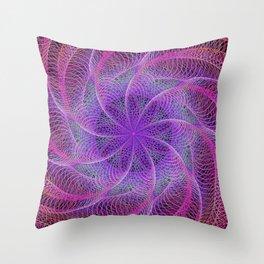 Pink spiral magic Throw Pillow