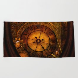 Awesome noble steampunk design Beach Towel
